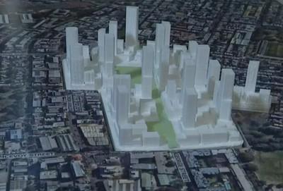 3D model of Waterloo Estate Preferred Master plan