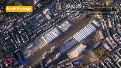 C2E North Eveleigh - Before Indicative Development - July 2014 (below)
