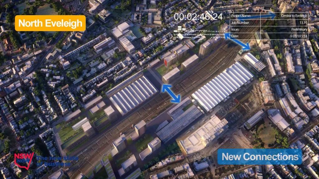 c2E North Eveleigh - After Indicative Development - July 2014 (below)