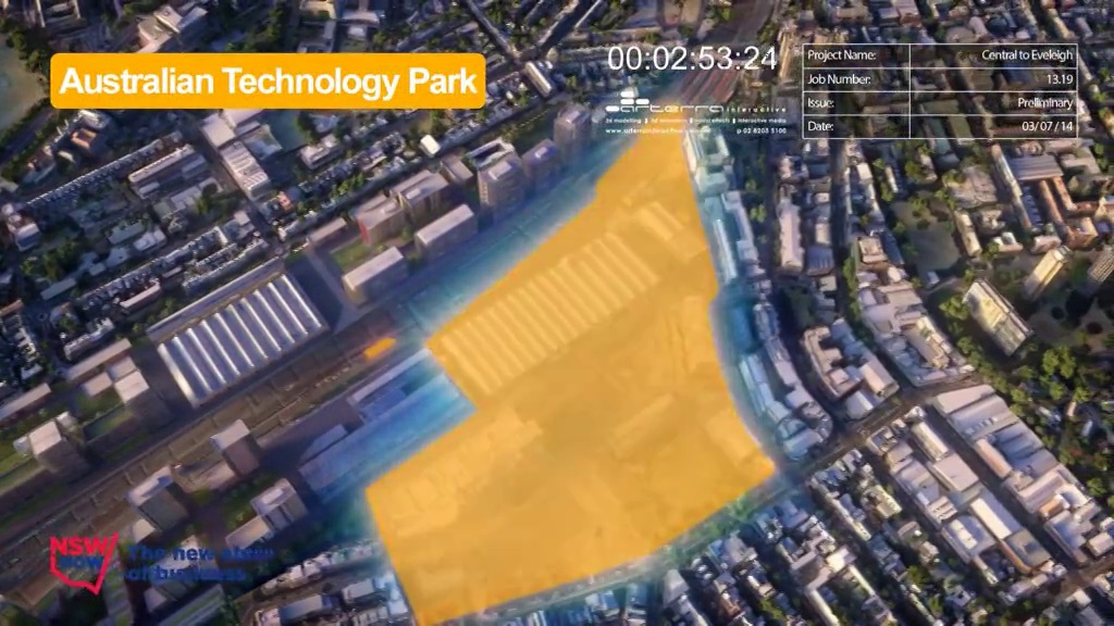 C2E Australian Technology Park - Area covered - July 2014