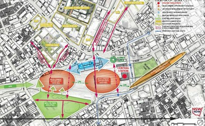 Central Map of Central to Eveleigh Proposal