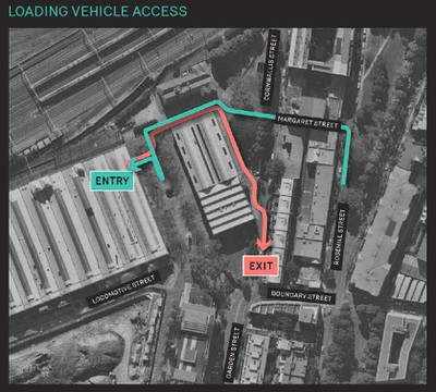 Proposed Loading Bay Access to Locomotive Workshop