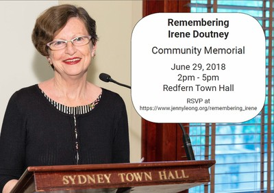 Remembering Irene Doutney Community Memorial