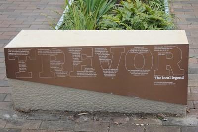 Trevor Davies Plaque wording near Charles Kernan Reserve